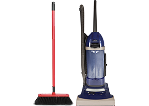 Broom and Vacuum
